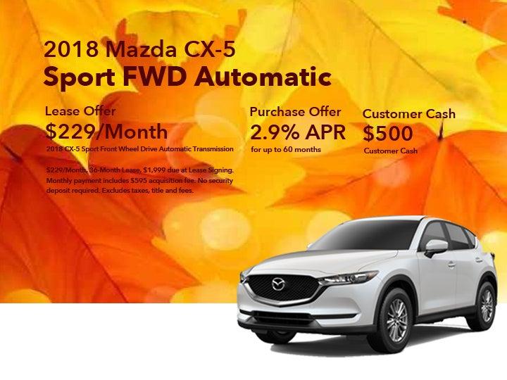 2018 Mazda CX 5 Sport FWD Automatic